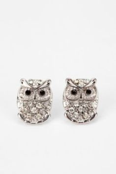 Pave Owl Post Earring.  So cute and so want these :)