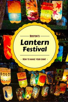 How to make your own lantern festival using empty soda bottles and candles, inspired by the beautiful event in Boston!
