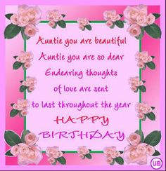 23 best happy birthday aunt images on pinterest birthday wishes happy birthday aunt quotes happy birthday cards for aunts free aunt birthday card m4hsunfo