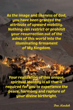 As the image and likeness of God, you have been granted the attribute