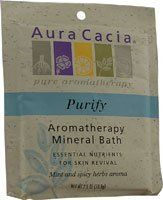 Mineral Bath-Purify - 3 oz - Bath Salt by Aura Cacia. $3.29. Aura Cacia. The Authentic Aromatherapy Experience. The Authentic Aromatherapy Experience...Aura Cacia's Balancing Sage evokes a sense of clarity and calm that comes from an afternoon spent in the garden. Create an at-home spa treatment that refreshes the senses, clarifies the body and revitalizes the spirit. Emerge from the soothing waters of your tub refreshed and velvety smooth. A Blend of 100% Pure Essential Oil...