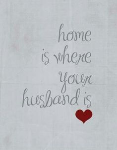 "I still love saying it.. ""husband"" :))"
