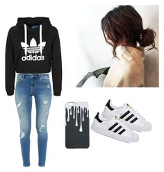 A fashion look from March 2017 featuring cropped shirts, ripped skinny jeans and leather shoes. Browse and shop related looks. Ripped Skinny Jeans, Crop Shirt, My Outfit, Sport Outfits, Leather Shoes, Ted Baker, Fashion Looks, Adidas, Sports