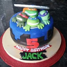Teenage Mutant Ninja Turtle Birthday Cake Ninja Turtle Birthday Cake, Teenage Mutant Ninja, Sugar, Cakes, Desserts, Food, Tailgate Desserts, Deserts, Essen