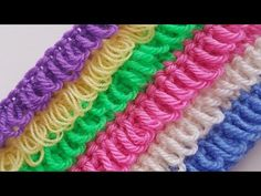 Loop stitch is a great edging technique indeed. Most of you know this stitch because you have previously used it in - Salvabrani Embroidery Stitches Tutorial, Knitting Stitches, Crochet Designs, Crochet Patterns, Diy Bags Purses, Crochet Videos, Learn To Crochet, Knitting Projects, Hand Weaving
