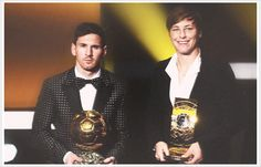 Messi and Wambach, 2012 FIFA Player of the Year. So much awesomeness in one picture!!!