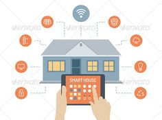 smart home automation technology icons set | icon set, icons and