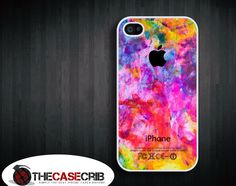 Iphone case - Colorful Apple , Iphone 4 case , Iphone 4s case. $15.99, via Etsy.