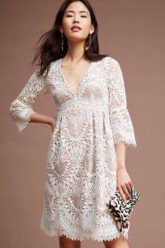 ML Monique Lhuillier Tea Lace Dress #anthrofave