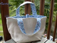 Sewing bags patterns tutorials tuto sac 51 Ideas for 2019 Coin Couture, Couture Sewing, Diy Sac, Jute Bags, Simple Bags, Grab Bags, Sewing To Sell, Bag Sale, Purses And Bags