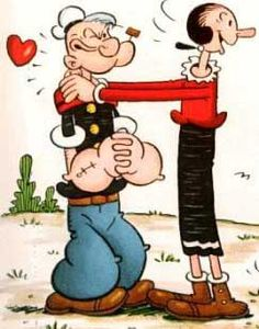 Popeye and Olive Oyl after school.