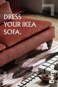 Diy Yarn Decor, Diy Home Decor, Reupholster Furniture, Ikea Furniture, Ikea Couch Covers, Ikea Sofas, Victorian Townhouse, Front Rooms, Dream Decor