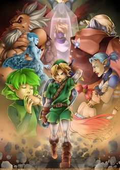 The Legend of Zelda: Ocarina of Time. Such a good game. It is out for the 3DS right now.