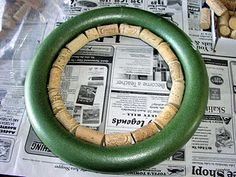 YAH: Wine Cork Wreath...beginning