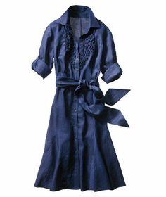 Lauren by Ralph Lauren midcalf-length linen dress. $199. Bloomingdales. LOVE.