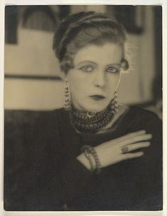 Nancy Cunard, Photographed by Man Ray, circa 1925, gelatin silver print, Bequest of Winthrop Edey, MMOA