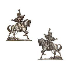 """Cazador a caballo de la Guardia (plano de estaño del estuche """"Figuras del Primer Imperio - 1804 - 1810"""" - Manufacture Historique de Soldats de Plomb - espesor 3,5 mm)"""