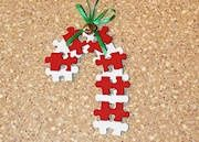 puzzle piece ornaments.....craft with grandkids!