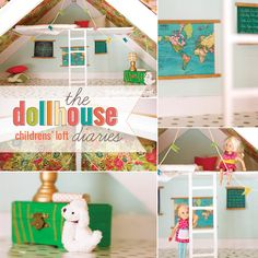 Seriously Cool and Creative to decorate a doll house with your little girl