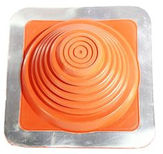 Square Base Pipe Flashing 3 Red Silicone, Pipe Range: 1/4'-5-3/4' (6mm-146mm) * For more information, visit image link.
