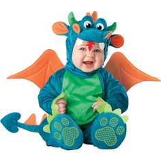 A baby dragon costume for our baby dragon!