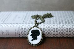 Cameo Embroidery Cross Stitch Necklace