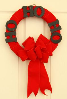 Ho Hopping Holiday Wreath // Christmas Door by WeLoveWreaths, $35.00
