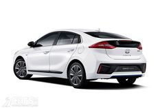 The Hyundai Ioniq - Hyundai's new car offering hybrid, plug-in and electric powertrains - is revealed in new photos with details of its hybrid powertrain.