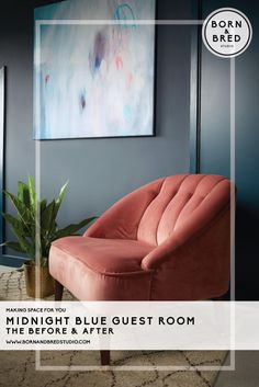 Thinking of going to the dark side. see this London family homes loft bedroom transformation! Family Homes, Home And Family, Queens, Hague Blue, Dark Walls, Dark Interiors, Bedroom Loft, Interior Design Studio, Happenings