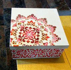 Decoupage Box, Decoupage Vintage, Painted Boxes, Wooden Boxes, Wooden Box Designs, Cigar Box Crafts, Diy General, Mandala Art, Wood Crafts