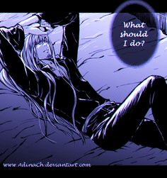#W.I.T.C.H. #doujinshi #prince #Phobos #fan #art #manga #digital #dark #sexy #bed #wonder Link: http://adinach.deviantart.com/art/What-Should-I-Do-574280348