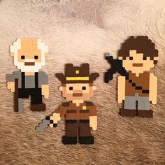 The Walking Dead perler beads by oliviare