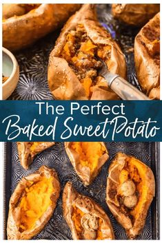 The Perfect Baked Sweet Potato is easy to achieve. So if you're wondering how to bake sweet potatoes, then you've come to the right place! Find out how long to bake sweet potatoes, plus my favorite SIMPLE way to eat them (with butter and cinnamon sugar! Cooking Baked Potatoes, Boiling Sweet Potatoes, Roasted Sweet Potatoes, Perfect Baked Sweet Potato, Sweet Potato Recipes, Easy Holiday Recipes, Thanksgiving Recipes, Dinner Recipes, Real Food Recipes