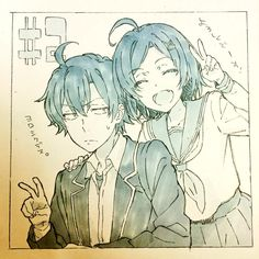 Yahari Ore no Seishun Love Comedy wa Machigatteiru - Oregairu Manga Online Manga Art, Anime Manga, Anime Art, Character Inspiration, Character Design, Yahari Ore No Seishun, Otaku, Anime People, Anime Sketch