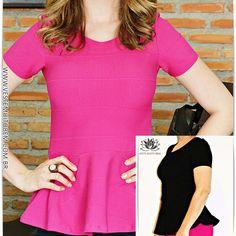 Lindas e elegantes! Combinam com qualquer ocasião!! | Blusa Peplum Bandagem |  Moda em Roupa Feminina Veste Muito Bem #modafeminina #lookdodia #estilo #moda #roupas #vestemuitobem