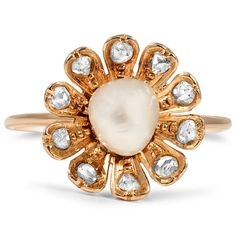 Beautiful 1900's pearl engagement ring. (The+Mahola+Ring+from+Brilliant+Earth)