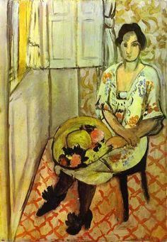 """""""Assento da mulher"""", óleo sobre tela por Henri Matisse (1869-1954, France)"""