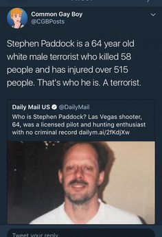 He's a terrorist. It's literally that easy.