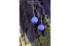 Wild blueberry earrings made of polymer clay http://mintchocolate.org/wild-blueberry-earrings