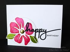 Acrylic Glaze Stenciled Birthday Card by Jacquie J - Cards and Paper Crafts at Splitcoaststampers