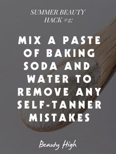 Remove #selftanner. #beautyhacks