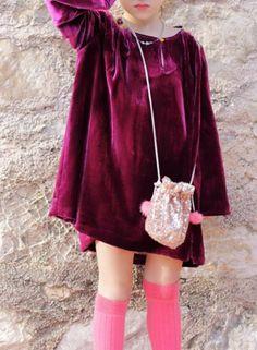 Handmade Velvet Dress & Sequinned Pouch | MissdeMars on Etsy