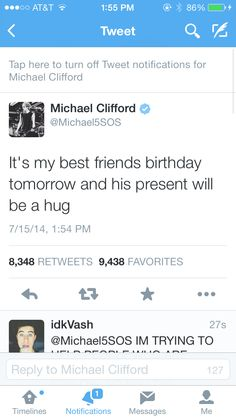 Luke will probably be like get the fudge off me. Bc he hates their group cuddle haha