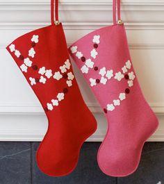 Hecho a mano lana fieltro Navidad media: Colgar algunos