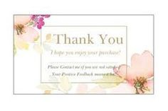 100 Professional Thank You Cards Ebay Poshmark Etsy Seller Feedback Elegant Floral Pink Gold Modern by LesTroisJ on Etsy Purchase Card, Thank You Photos, Shipping Supplies, Business Card Size, Pink Stripes, Floral Flowers, Pink And Gold, Thank You Cards, Etsy Seller