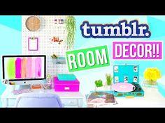 DIY Tumblr Room Decor + Organization 2016! Alisha Marie - YouTube