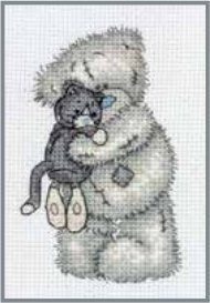 Cuddly Cat - Tatty Teddy Counted Cross Stitch Kit