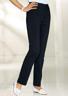 Classic Basics Hose in formstabiler Stretch-Qualität ab 29,99€. Hose in gerader Schnittführung, Polyester, Viskose, Elasthan, Figurnahe Form bei OTTO