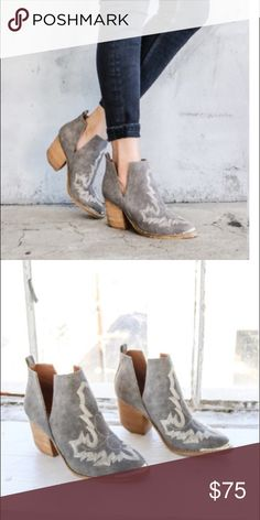 Western-inspired ankle boots. Ankle boots with a western-inspired design, etched metal heel and toe caps, and sculptural V-cut sides. Shoes Ankle Boots & Booties