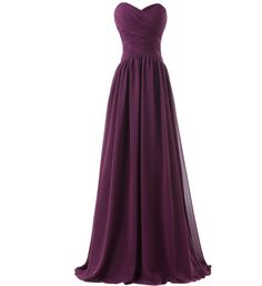 Purple Long Women's Formal Dress - Bridesmaids - Prom - Party